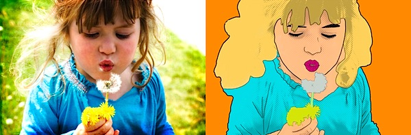 Creating Lichtenstein Inspired Portraits From Your Child