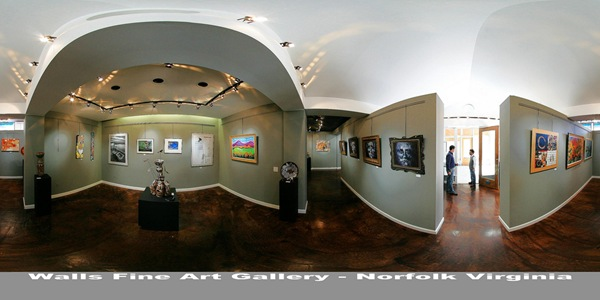 Walls Fine Art Gallery - Norfolk, VA Panorama