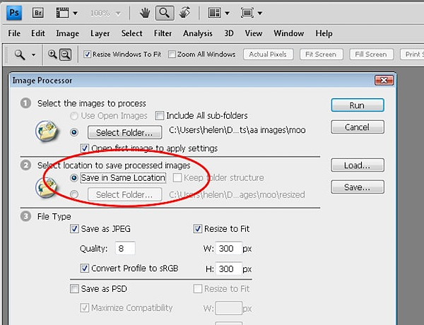 how to save photoshop files as smal pdf