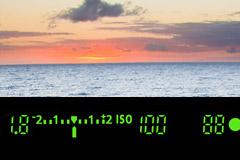 Exposure meter display in viewfinder
