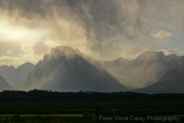 Rain On The Grand Tetons, USA