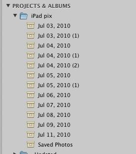 Aperture folders