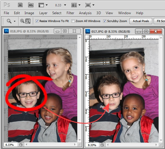 photoshop how to clear photo