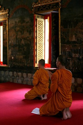 Monks, Wat Pho