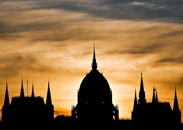 Hungarian Parliament Building Silhouette ~ Explored ~