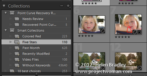 Lightroom smart collections