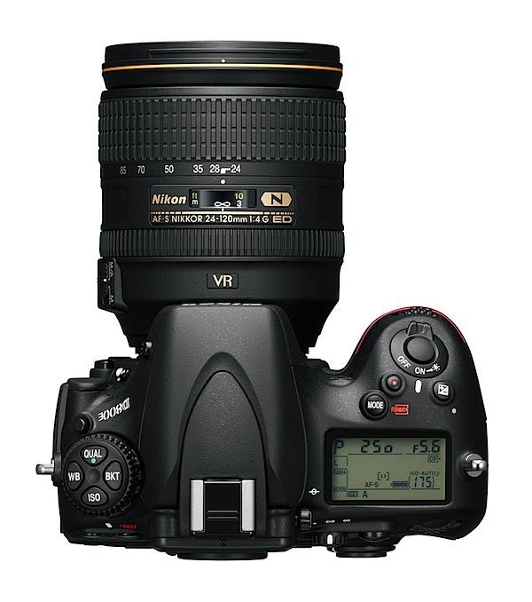 Nikon D800E Top