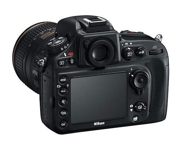 Nikon D800E back