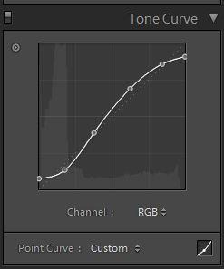 SLR Lounge FilmicBW Tone Curve