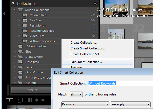 Lightroom smart collections 1