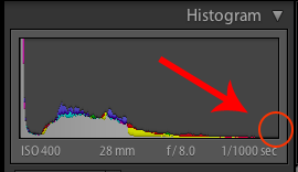 Your darkest image's histogram should look something like this with a gap on the right side.