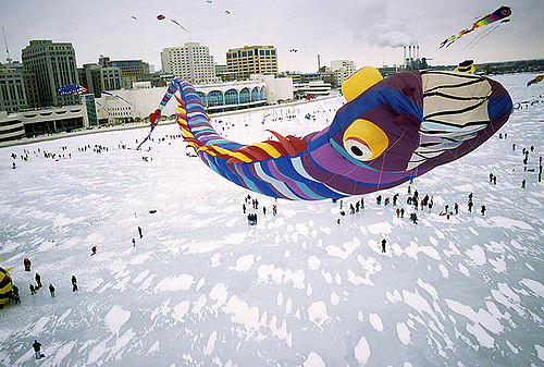 kites on ice