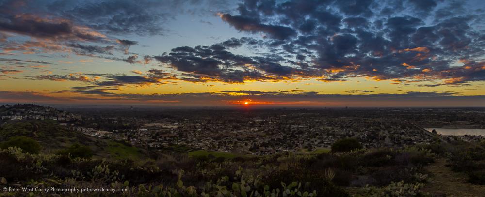 Orange County Sunset Panorama