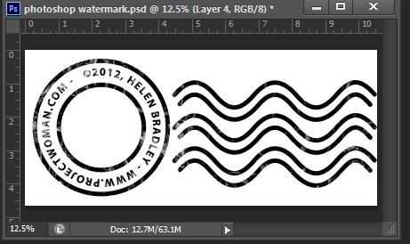 Make a watermark image in photoshop step16