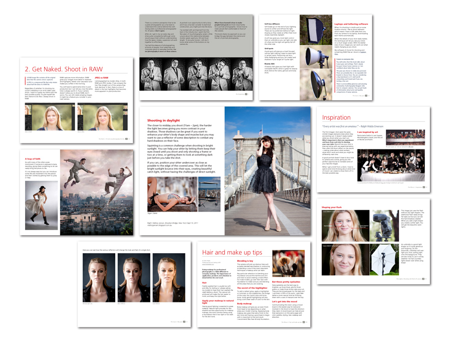 Portrait Photography Guide Table of Contents