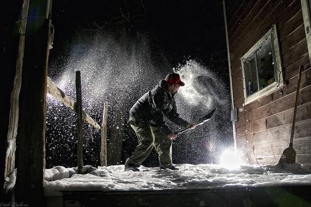 64/366---Shoveling Snow --Gota love Canadian Winters
