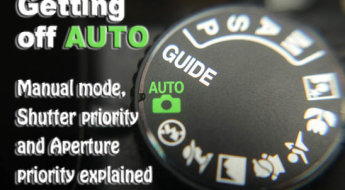 Macro image of a digital camera's controls set on auto