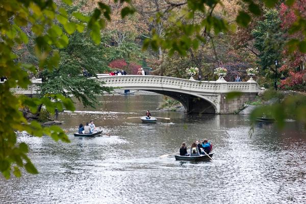 Rowboats and Bow Bridge.