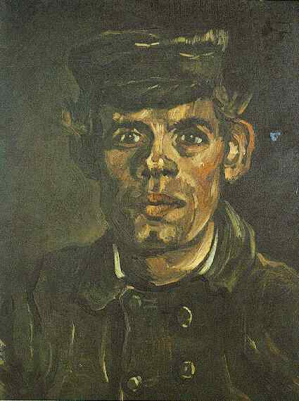Vincent van Gogh Head of a Young Peasant in a Peaked Cap