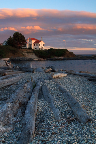 Sunset at Ross Bay, Victoria, British Columbia, by Anne McKinnell