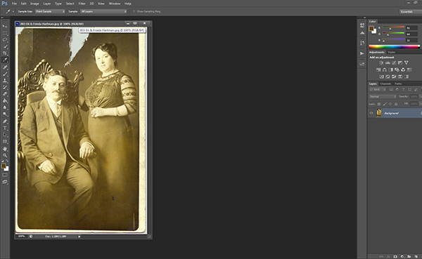how to fix damaged photos in photoshop