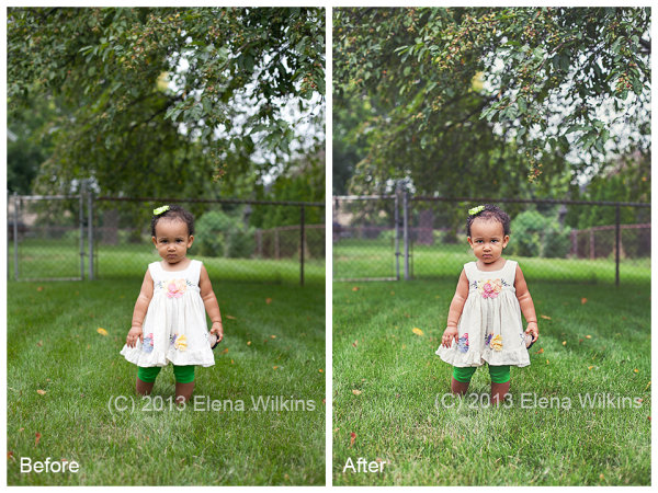 I will mention actions used in processing these two image at the end of the post