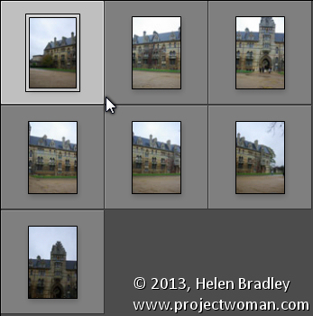 Sending Panorama Sequences from Lightroom to Photoshop 1