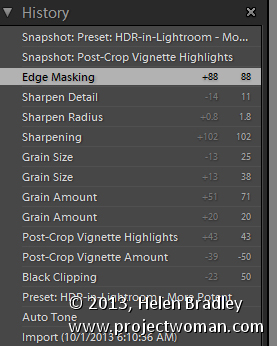 Lightroom history tips 1