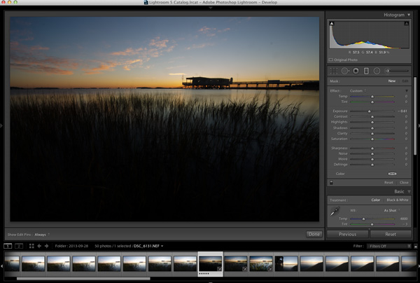 Lightroom Workflow - Expose for the sky