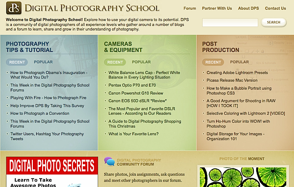 In 2009 we did a major redesign and expanded the site with new sections on 'camera reviews' and 'post production'.