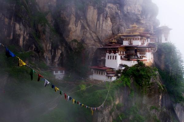 Travel Photography Tips - Man Made Wonders - Tiger s Nest Monastery in the Mist  Paro Bhutan  Copyright 2013 Ralph Velasco