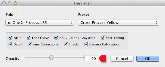 The Fader Lightroom plugin