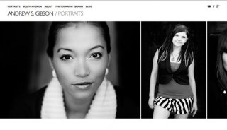 Photography website created with Koken