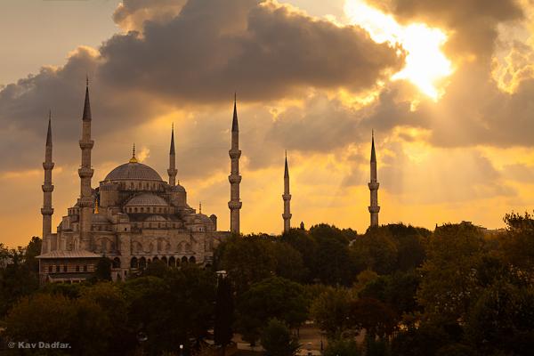 Blue Mosque-Istanbul-Sunset-Kav Dadfar