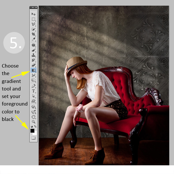 photoshop how to create a radial fade