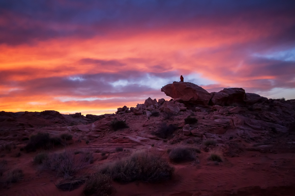 Sunset in The Valley of Fire, Nevada by Anne McKinnell