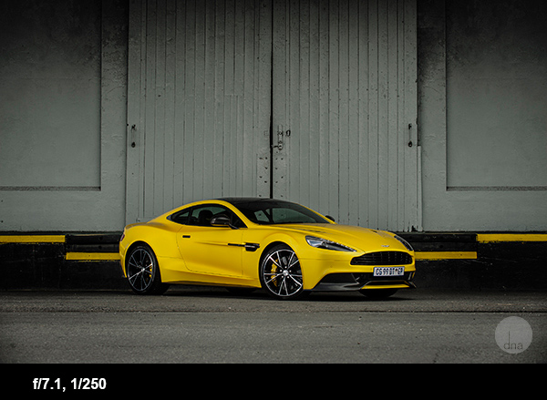 Car photography aston martin