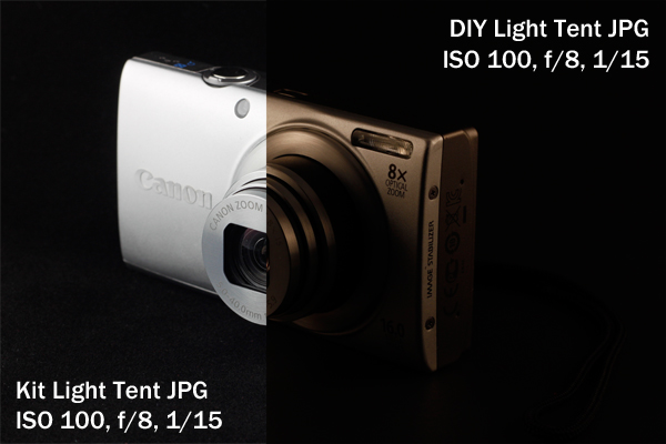 light tent, product photography, camera, Canon, point and shoot, Canon A4000IS