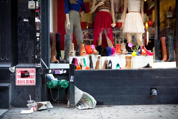 Shoe Store Display, SoHo