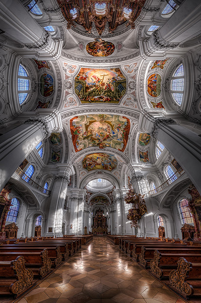 Basilica St Martin Weingarten Germany HDR Vertorama