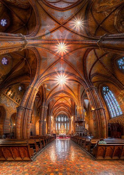 Matthias Church Budapest Hungary HDR Vertorama