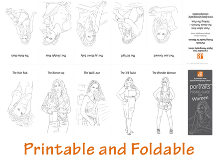 Foldable portrait poses guide