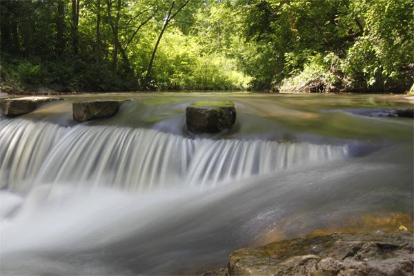 waterfall, silky water