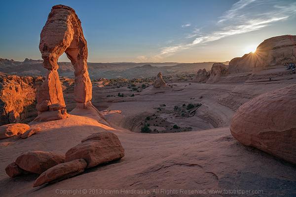 Delicate Arch Landscape, Moab, Utah