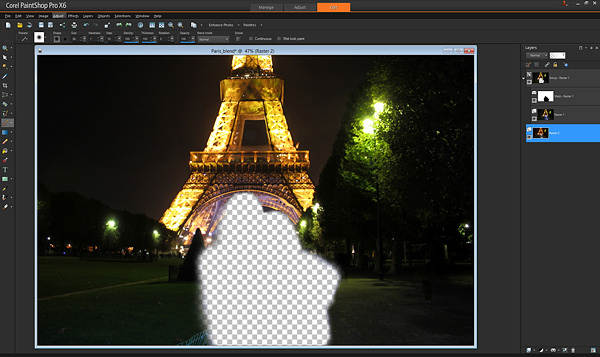 14 Paris 3 layer removed