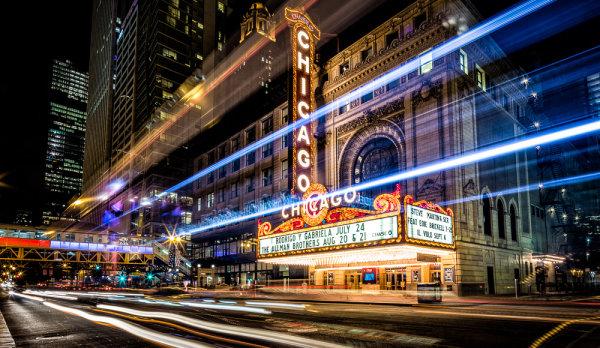 Chicago Theater Night
