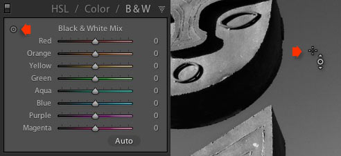 Black and white conversions in Lightroom