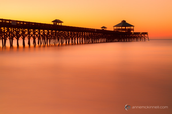 Folly Beach Pier, Charleston, South Carolina by Anne McKinnell