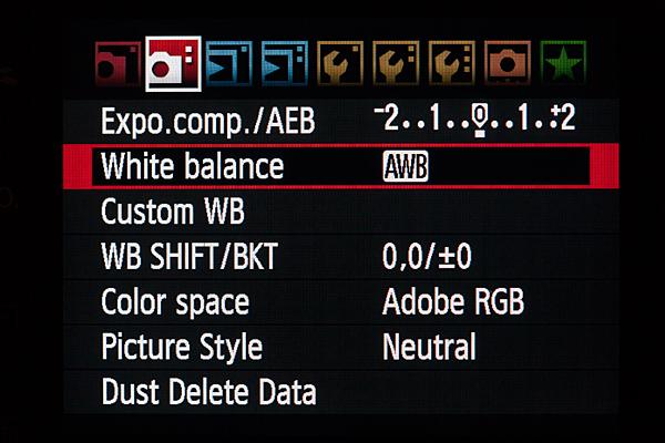 02White Balance camera menu 1