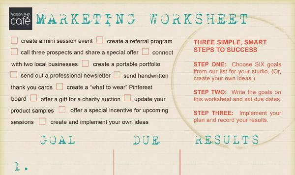 28 marketing photo worksheet